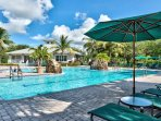 Resort Style Pool and Hot Tub in Community; Ample Seating and Loungers; Community Grill; Gym; Multiple Tennis Courts...