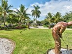 Entrance to Community in Lely Resort; Bronze Golfer Statues a Beautiful Site as You Enter Your Condo Rental!