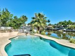 Private Pool on the Canal with Private Boat Dock and Hot Tub (Pool Heat Optional Add On at Time of Booking); Ample...