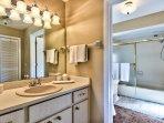 Master Bathroom with Walk in Shower/Tub!