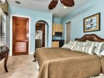 Cabana Room with Queen Bed and Flat Screen TV; Private Bathroom; Room is Separated from Main House; Perfect for In-Laws!