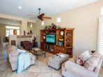 Family room will comfortably seat you and your guests