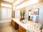 Enjoy our newly renovated, spa-like master bath