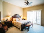 Stretch out in this eastern king bed in the Master Suite