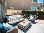 Savor the BBQ smells as you stretch out on the outdoor sofa!