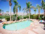 Enjoy the pool areas shaded by the beautiful palm trees