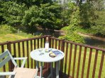 Perfect location for relaxing and enjoying  the wildlife from the decking.