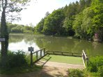 Onsite coarse fishing lake. Day tickets available from Warden's accommodation @ £6.