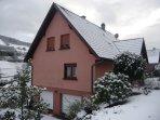 maison l'hiver