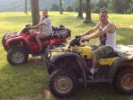 Four wheeler guided rides are available for an additional fee. Ask for details.