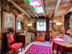You'll love the unique character of this converted barn, as shown in this shot of the sitting room.
