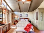 You'll sleep like a baby on the master bedroom's comfortable queen-sized bed.