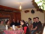 la salle des petits déjeuners en commun