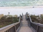 Bluff stairs to beach