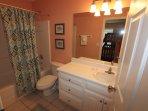 Lower level full, private bathroom