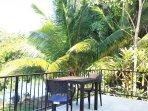 patio- veranda  overlooking the Sittee River
