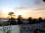 Vue sur le coucher de soleil