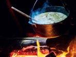 Order the french inspired Nightcap chicken stew.