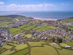 Croyde Holiday Cottages Dunes Aeriel