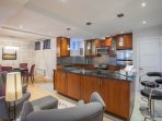 Great work kitchen, fully equipped with stainless steel appliances