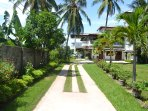 Drive into the villa