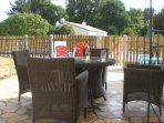 Alfresco dining - overlooking enclosed pool