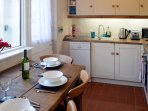 The kitchen is well equipped for self-catering