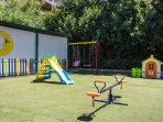 Various equipment in the playground