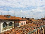 vista sui tetti da casa
