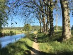 Walk or cycle on many scenic routes along Canal du Midi