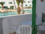 terrazzo con accesso diretto piscine