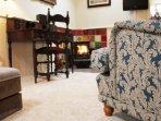 Lounge & wood burning stove