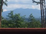 A view from our deck of Mt. LeConte