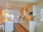 This spacious kitchen has everything you need to prepare delicious meals.