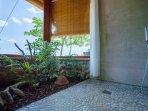 Ducha con jardín interior Casa Costa Brava