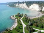 Bluffers park minutes from here. Approximately 7 minutes by car or taxi.