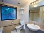 Bathroom with a view to Kings Park complete with bath and shower