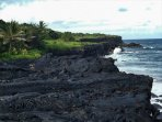 10min walk to lava cliff ocean vista!
