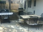 BBQ and 6 Seater Cushioned Patio Set - Placement 1
