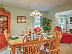 Spend time with loved ones at this darling dining room table.