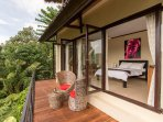 Hillside Eden Bali - Terrace East lower pool room with amazing view