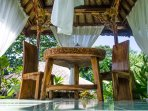 Hillside Eden Bali - The romantic gazebo for lunch and dinner