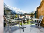 Balcony with view of Mont Blanc