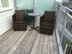 seating area on the balcony at Se Breeze
