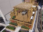 new roof deck and gardens