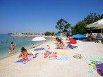 Nearest beach in Strožanac 650 m far