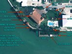Arial View with layout of proerty showing boat dock and private pool