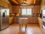 Kitchen with a great view while preparing your favorite meals