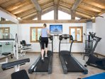 Large gym with a great range of equipment.