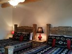 #3 bedroom with 2 Queen upscale luxury mattresses on sturdy hand crafted headboards, foot boards & frames sleeps 4...